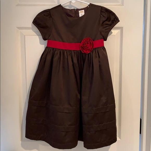 Gymboree Other - Girls brown satin dress